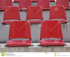 empty red bleacher seats royalty free stock images image 11561049