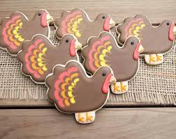 turkey sugar cookies turkey cookies etsy