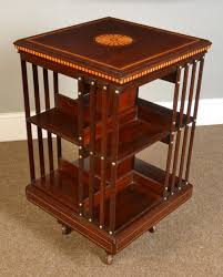 Revolving Bookcase Table Edwardian Mahogany Inlaid Revolving Bookcase Antiques Atlas
