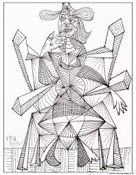 drawing by picasso 1938 coloring pages printable