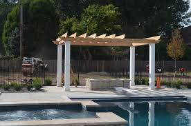 Pool With Pergola by What Is A Pergola Gazebo With Flair