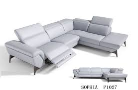 Corner Sofas With Recliners Living Room Leather Corner Sofa Recliner With Genuine Leather