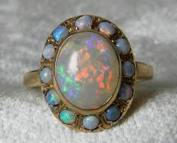 black opal engagement rings opal ring antique 14k gold blue black opal engagement ring