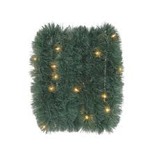 Outdoor Lighted Garland Shop Artificial Christmas Garland At Lowes Com