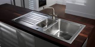 Kitchen Stainless Steel Kitchen Sink For Classic Kitchen Counters - Brushed stainless steel kitchen sinks
