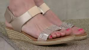 comfortiva by softspots wedge sandals beck on qvc youtube