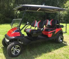 custom rebel lifted club car precedent golf cart by kjng of carts