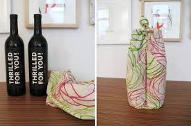 wine bottle gift wrap make a wine bottle wrap for easy gift giving kitchn