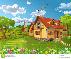Rustic House Rustic House In A Natural Landscape Stock Vector Image 50629435