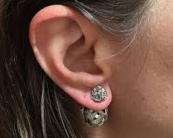 back earrings front back earrings etsy