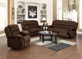 Grey Leather Reclining Sofa by Bailey Chocolate Velvet Fabric 3 Pcs Sofa Loveseat Chair