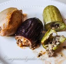 stuffed zucchini eggplant and peppers kusa mahshy sugar u0026 garlic