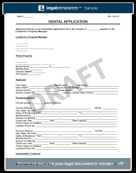 rental application form create a free lease application form