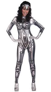 Fallout 3 Halloween Costume Robot Costume Robot Catsuit Costume Silver Robot Costume