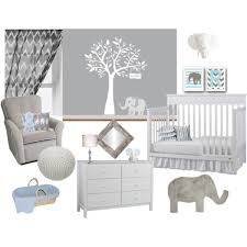 Elephant Curtains For Nursery Crisp Blue Grey U0026 Whiet Nursery Polyvore