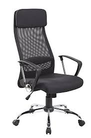 Upholstered Swivel Desk Chair by Amazon Com Eurosports Es 8045 Bk High Back Mesh And Fabric Swivel