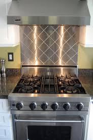 Kitchen Stainless Steel Backsplash Kitchen Design Kitchens With Stainless Steel Backsplashes White