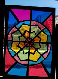 Kids Stained Glass Craft - stained glass with cardboard and cellophane glass craft and vbs