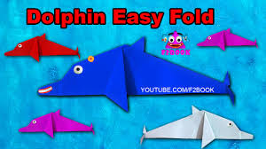 how to make origami dolphin easy for kids f2book videos 118