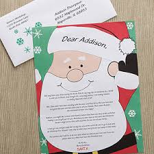 personalized letter from santa personalized letter from santa santa s