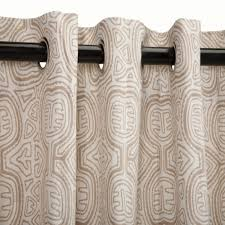 Sunbrella Outdoor Curtain Panels by Curtain Grommets Decorate The House With Beautiful Curtains