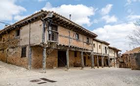 Adobe House by Medieval Adobe House Facade In Calatanazor Spain Stock Photo