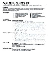 Retail Store Manager Resume Example by Resume Store Store Manager Resume Store Manager Resume Example
