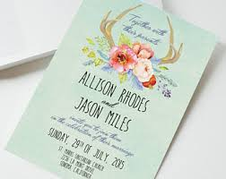 deer wedding invite etsy