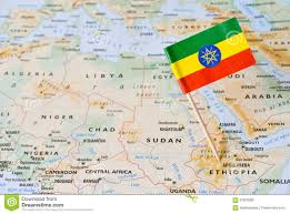 Ethiopia World Map by Ethiopia Flag Pin On Map Stock Photo Image 67800269
