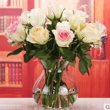 Flower Table L Qoo10 Glass Vase Transparent Flower Table Flower Arrangement