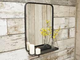 Bathroom Mirror Storage by Industrial Metal Wall Mounted Bathroom Mirror Storage Display