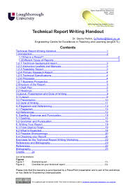 report writing sample for students technical report writing