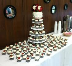cupcake wedding cake roses cupcake wedding cake and display jannie cakes