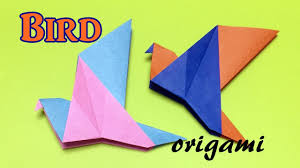 origami bird easy for kids how to make a paper bird step by step