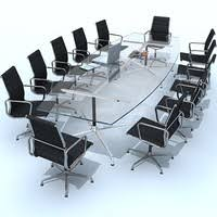 Eames Boardroom Table Conference Table 3d Models For Download Turbosquid