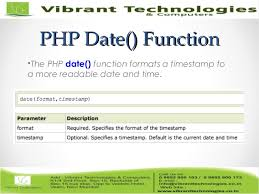 varchar date format php php introduction to php date and time functions
