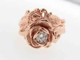 Rose Gold Wedding Ring Sets by Rose Gold Diamond Wedding Ring Set English Roses Wexford Jewelers