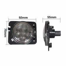 jeep accessories lights for jeep jk accessories front fender smoked led turn signal side