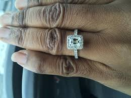 neil emerald cut engagement rings neil engagement ring 2 ct tw diamonds 14k white gold