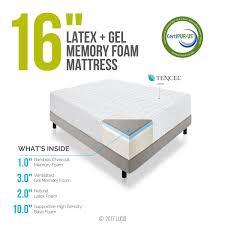 Latex Vs Memory Foam Sleepopolis Amazon Com Lucid 16 Inch Plush Memory Foam And Latex Mattress