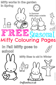 free miffy colouring pages miffy u0027s birthday crafts sea