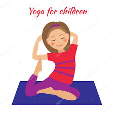 children activities yoga for kids children activities doing exercises u2014 stock