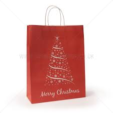 christmas paper bags christmas tree design carrier bag shop