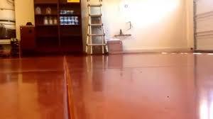 Laminate Flooring Garage Garage Floor Polished Concrete Red Rock Style Youtube