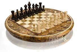 beautiful ruby decorative sculpted and hand crafted wooden chess