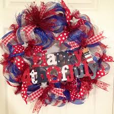171 best 4th of july wreaths images on wreaths