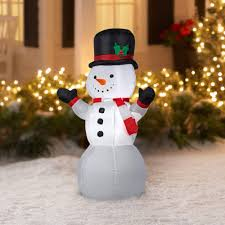 Outdoor Lighted Snowman Decorations by Gemmy Airblown Christmas Inflatables Snowman 4 U0027 Walmart Com