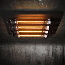 industrial flush mount light innovative loft rectangle industrial ceiling light