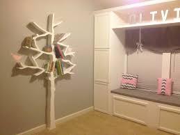 walls construction diy tree bookshelf
