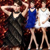 Flapper Dress Halloween Costume Aliexpress Buy 1920s Neck Beaded Vintage Sequin